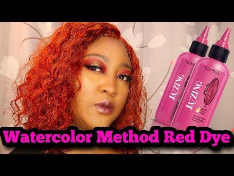 Watercolor Hair Dye Method Red Wig Youtube Black Hair Care