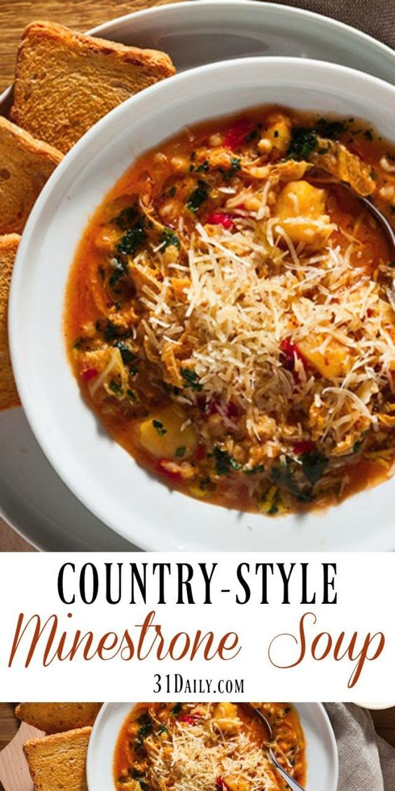 Winter Favorite: Hearty Country-Style Minestrone Soup | 31Daily.com