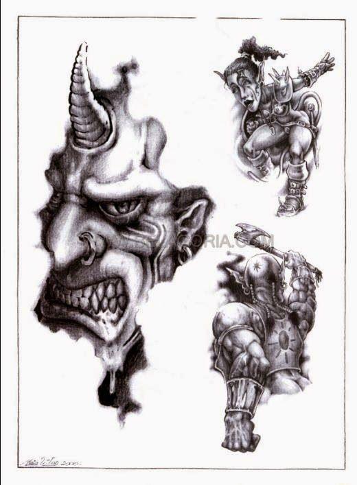 Disenos De Demonios Y Diablos Bocetos Tatuajes Tatuaje Magico Diseno De Tatuaje De Calavera