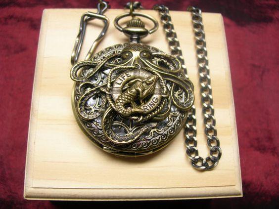 Steampunk Nautilus Inspired Pocket Watch  by mythicaljewelry, $59.99