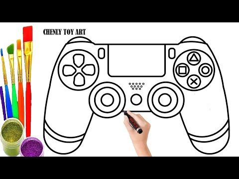 How To Draw Play Station Step By Step Play Station Drawing And