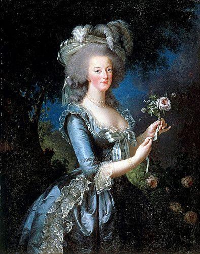 RIEN À VOIR AVEC LA SOUPE COPPOLA OU LES DÉGOULINADES THEYSKENS Portrait of Marie-Antoinette with rose painted by the painter Elisabeth Vigee-Lebrun in 1783.