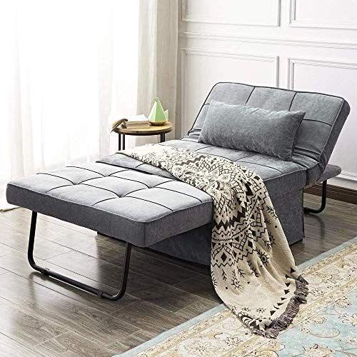 New Vonanda Ottoman Folding Chair Bed Modern Velvet Sleeper Sofa