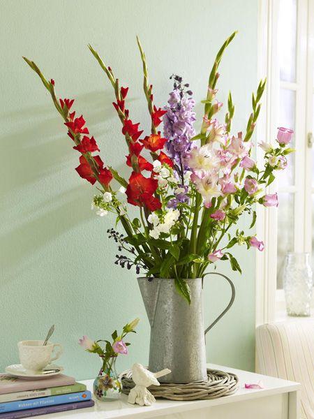 Ob in pudrigem Rosa, sonnigem Geld oder intensivem Lila,hoch oder niedrig gewachsen – Gladiolen sind so vielfältig, dass sie zu jedem Anlass passen.