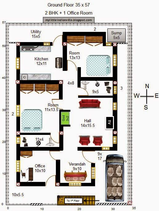 South Facing House Plans Vastu Plan For South Facing Plot 1 500 678 South Facing House Vastu House 2bhk House Plan