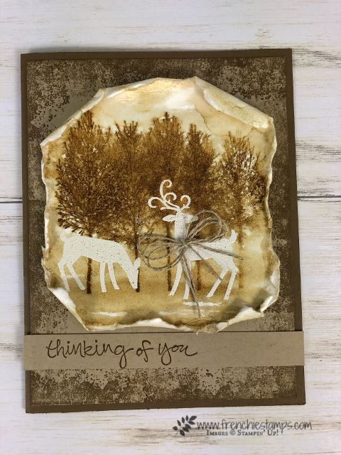 How To Emboss Resist In Sepia Color Sepia Color Christmas Cards