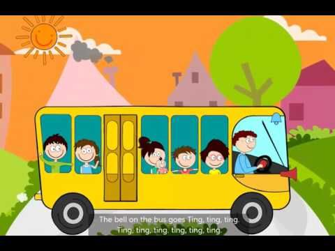 Wheels On The Bus Go Round And Round L Kids Poem L Preschool