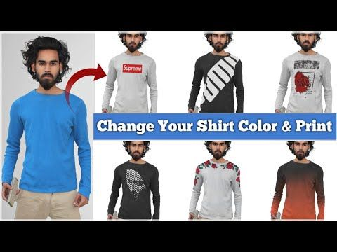 How To Change T Shirt Into Multiple Colors Design Easily Tips In Picsart Youtube Colorful Shirts Baby Photo Editing Photoshop Editing Tutorials