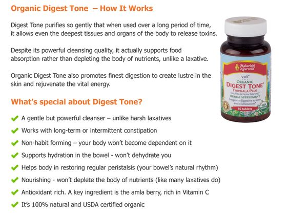 Easy Relief from Constipation - Digest Tone