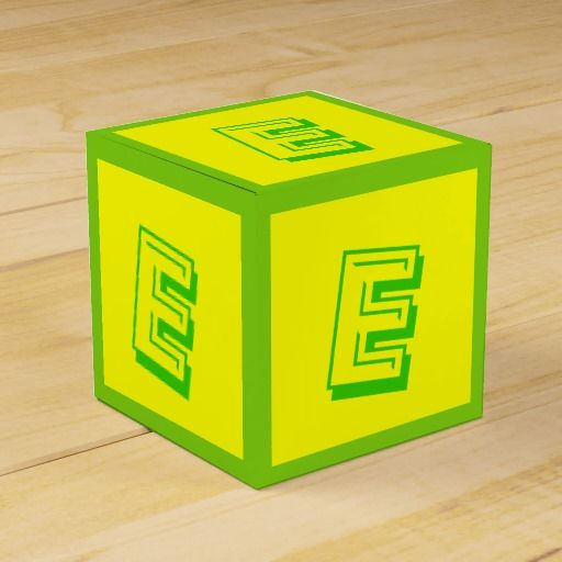 Letter E Building Block Box By Janz  The Letter E