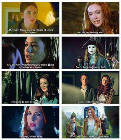 when the universe tells amelia pond she can�t keep rory