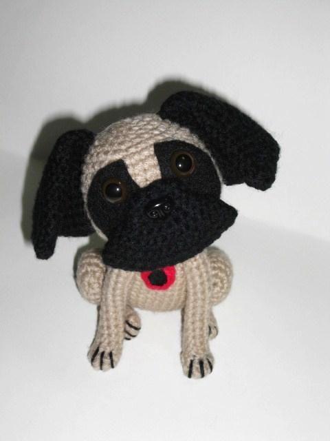 (4) Name: 'Crocheting :  Pug Poppy Amigurumi