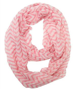 Look what I found on #zulily! Light Pink Zigzag Infinity Scarf by White Plum #zulilyfinds