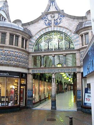 The Royal Arcade, Norwich.  Designed by local architect George Skipper in 1899. The Royal Arcade runs from Gentlemans Walk to Back of the Inns.