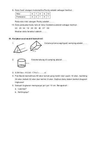 Soal Agama Islam Kelas 9 Semester 2 Dan Kunci Jawaban