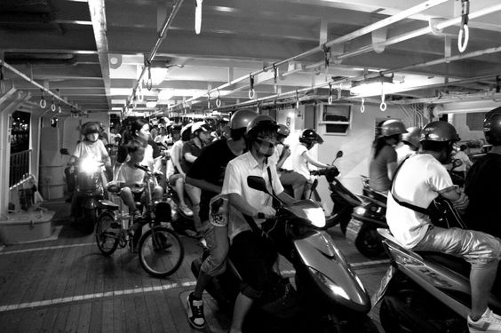 scooters on ferry, Kaohsiung #Taiwan