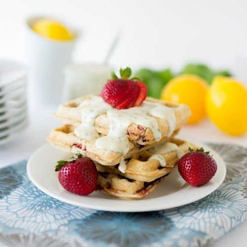 ... Lemon Basil Cream | Waffles | Pinterest | Strawberry Waffles, Lemon