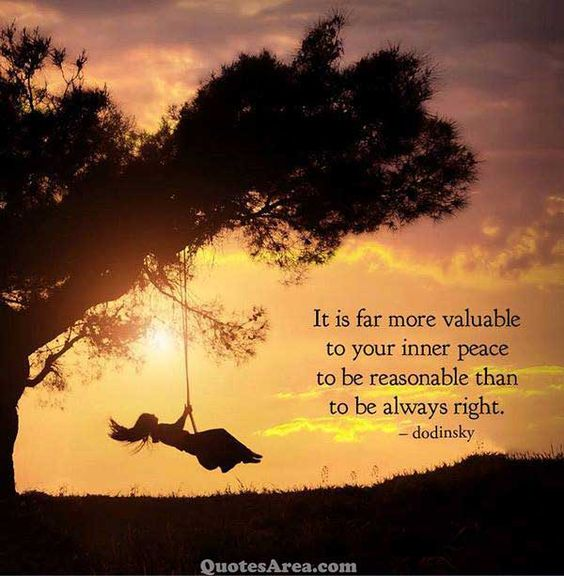 Inner peace is the most important thing in life