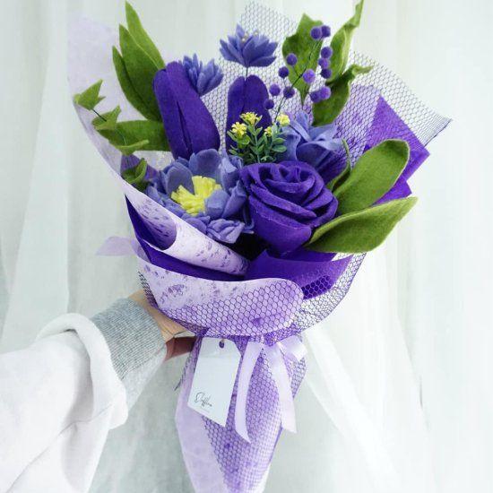 34 Buket Bunga Dari Kain Flanel Untuk Hadiah Wisuda Lamaran Dan Syukuran 2 Teman Kreasi Buket Bunga Buket Bunga
