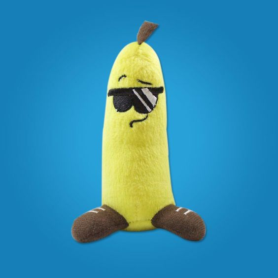 This here is Bizzy Peel. He's a hip-hoppin banana that's the coolest dude in Citron City. #banana #lilfruityz #cool #plushies #hotnewtoy