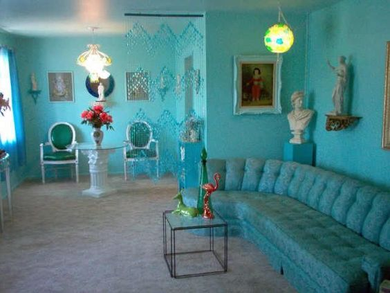 cool blue paint retro vintage 1950s furniture d cor mid century modern phoenix arizona home. Black Bedroom Furniture Sets. Home Design Ideas
