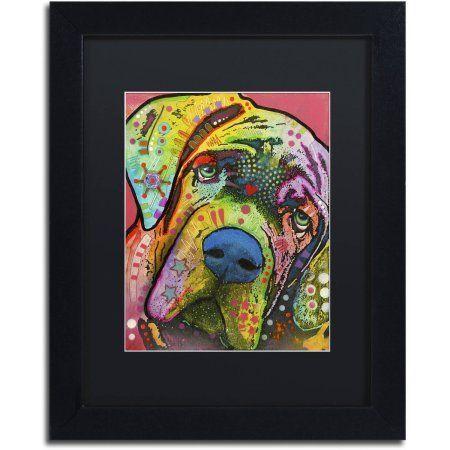 Trademark Fine Art Mastiff Canvas Art by Dean Russo, Black Matte, Black Frame, Size: 11 x 14