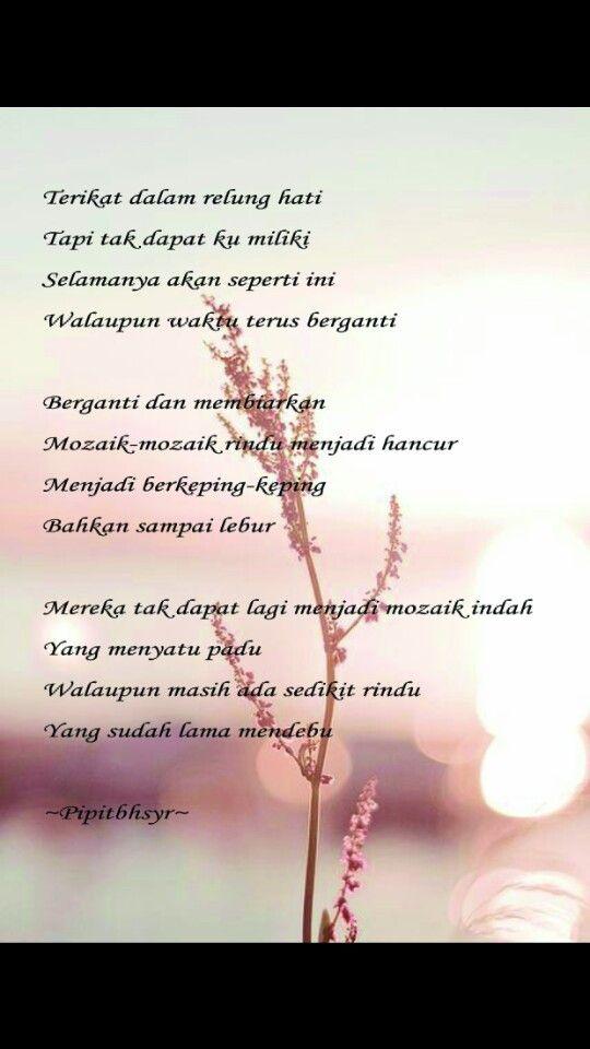 Pin Oleh Pipit Bahasyar Di Best Quotes Puisi