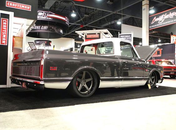 Roadster shop craftsman 39 69 chevy c10 truck on forgeline for West chevrolet airport motor mile