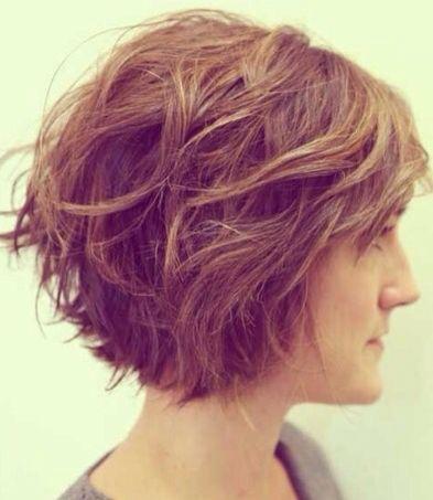 Short wavy hair