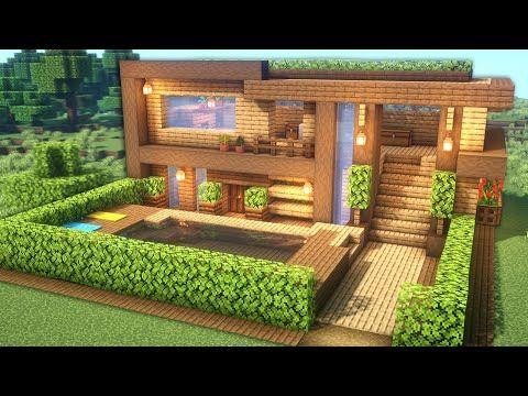Compartimos Planos De Casas Para Minecraft De Todo Tipo Casas Modernas De Madera De Piedra Casas Minecraft Arquitectura Minecraft Casas Minecraft Fáciles