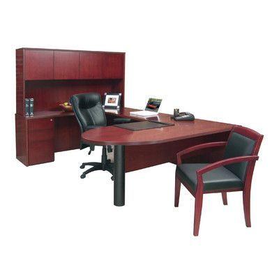 Mayline Luminary Series U-Shape Executive Desk Finish: Maple