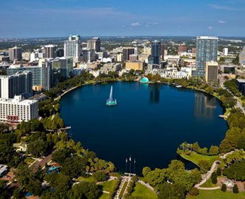 Beautiful picture of downtown Orlando, a few miles from
