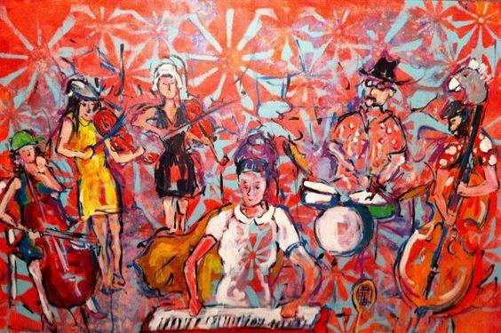 Une toile peinte en direct pendant le spectacle de Lynda Lemay - Culture - L'Avantage -- Rimouski