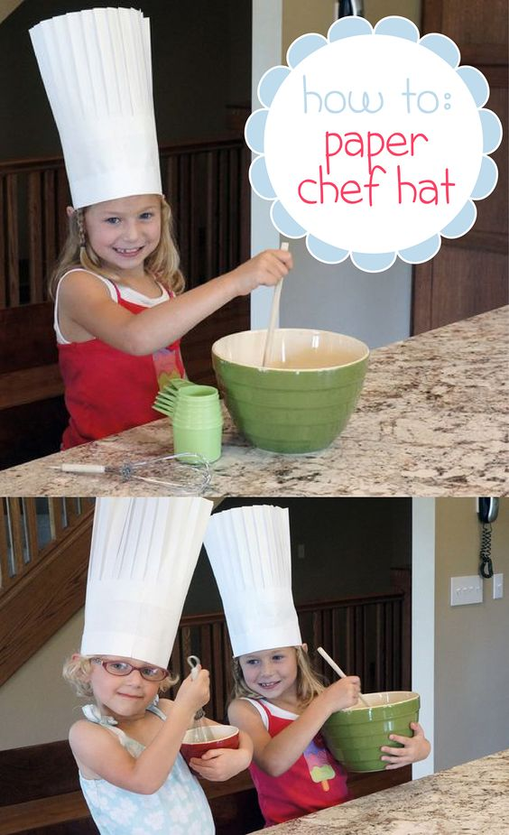 How to Make a Paper Chef Hat | Pinterest | Make paper, Chef hats ...