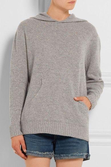 The Elder Statesman | Mélange cashmere hooded sweater | NET-A-PORTER.COM