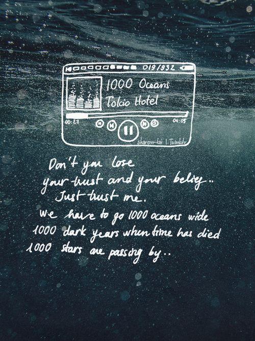 Tokio Hotel 1000 Oceans Lyrics - YouTube