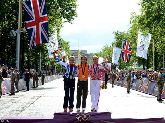 Brit special: Lizzie Armitstead won Team GB's first medal of the 2012 Olympic Games in the women's road race, behind Marianne Vos