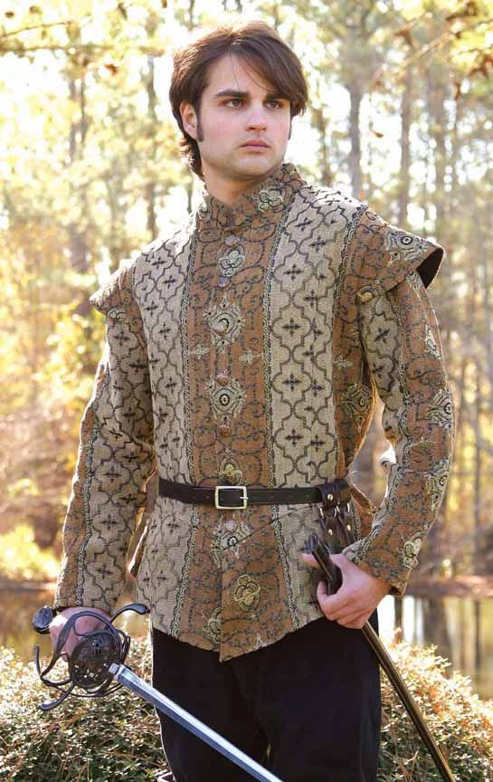 details about mens doublet jacket renaissance faire