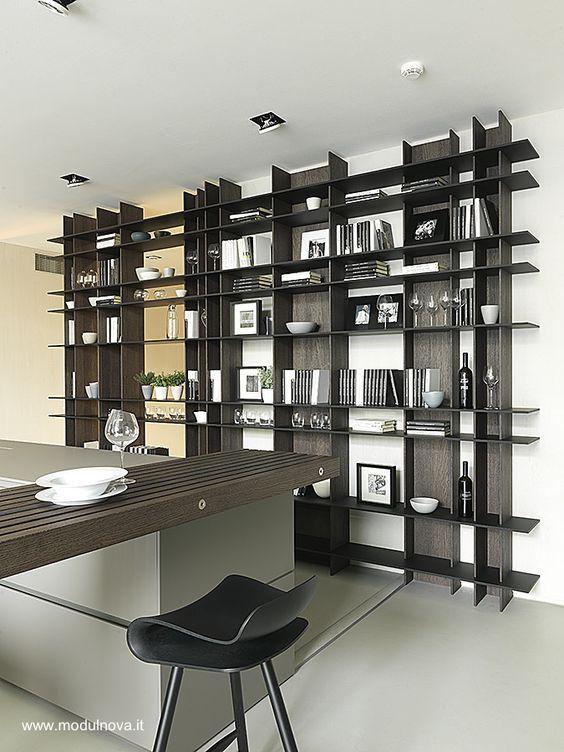 Modulnova Library Unlimited room divider