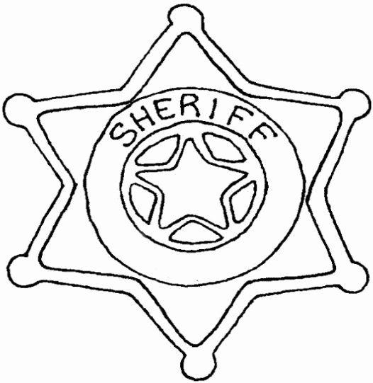 Police Badge Coloring Page Awesome Police Badge Template In 2020
