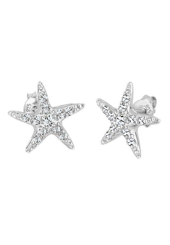 Elli Ohrringe »Ohrstecker Seestern Swarovski Kristalle Silber« für 29,90€. Glamouröse Ohrringe aus 925er Sterling Silber bei OTTO