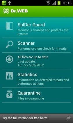 Dr.Web Antivirus Light