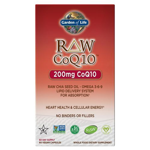 Garden Of Life Raw Coq10 200 Mg 60 Vegan Capsules Evitamins Com Chia Seed Oil Nutrition Recipes Vitamin Shoppe