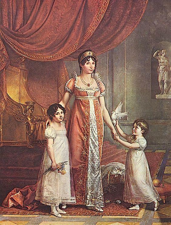 1809 Julia Bonaparte by Jean Baptiste Wicar (Galleria Nazionale di Capodimonte, Napoli Italy)