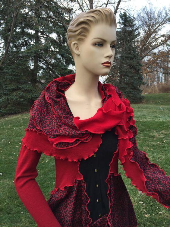Böhmische Schal wickeln roten Schal von DesignbyNatalia auf Etsy