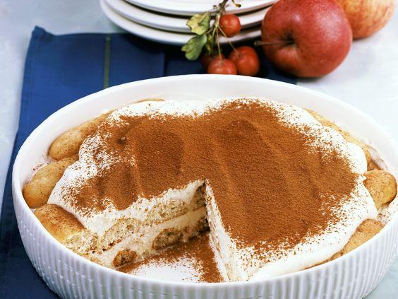 Tiramisu mit Apfelmus - smarter - Kalorien: 312 Kcal - Zeit: 25 Min. | eatsmarter.de