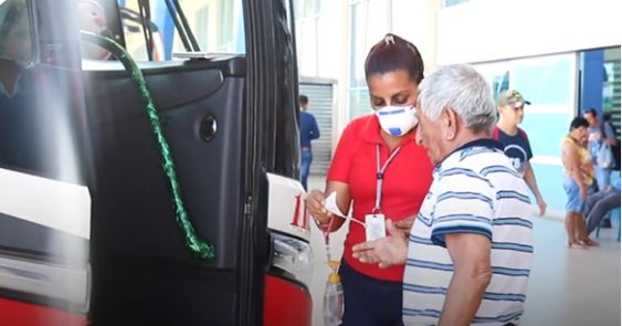 Boarding protocols on buses are heightened to protect passengers.