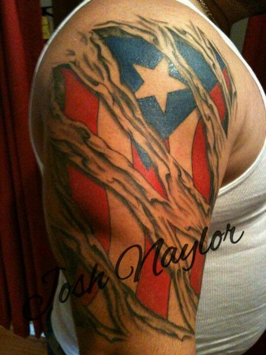 Usa american flag in the skin tattoos south elgin for Patriotic tribal tattoos