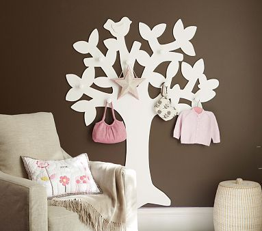 I love the Blossom Peg Tree on potterybarnkids.com