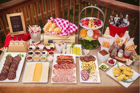 hamburger bar party | Useful Tips for a Labor-less Labor Day Party
